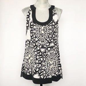 White House Black Market Sleeveless Silk Tunic S